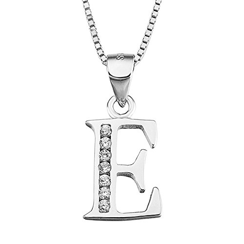 RSCD Creative Women's Necklaces Fashion English Letters E Pendant Mosaic Valentine Mother's Day Gift,OneColor-OneSize