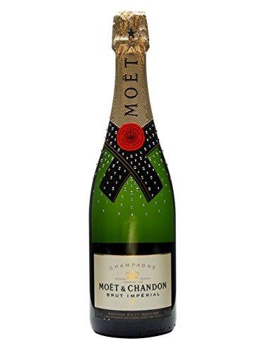 Champagne Moet & Chandon Glamour mit Schwarze Swarovski-Kristallen Magnum 1,5 lt.