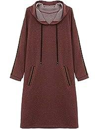 786c9023db8 Lxj Sweater 2018 otoño suéter con Capucha de Manga Larga Estudiante  Femenina Suelta Vestido Largo y