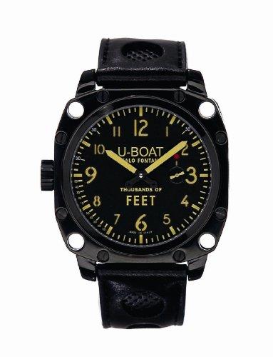 U-Boat 1918 - Reloj analógico automático para hombre con correa de caucho, color negro