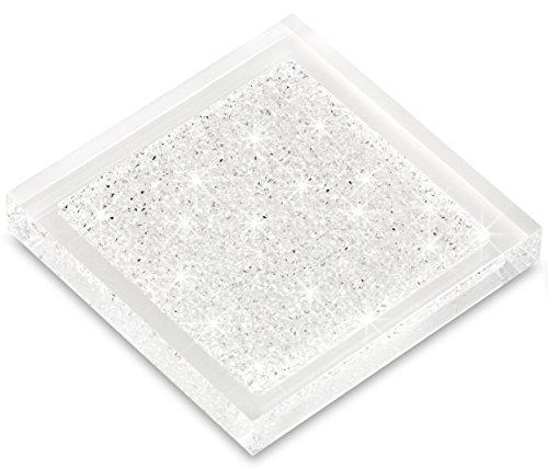 Luxuriöser Infinity Untersetzer mit SWAROVSKI ELEMENTS Kristallen - elegante Tisch-Dekoration (1 Stück - transparent)