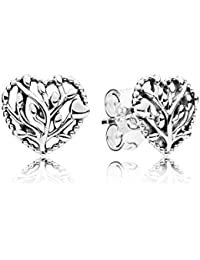 Pandora Women Silver Stud Earrings - 297085