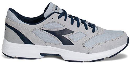 Preisvergleich Produktbild Laufschuhe Diadora Shape 7,  aus Wildleder und Leinen,  Artikel171466,  - ALLUMINIUM / NAVY TUAREG - Größe: 44