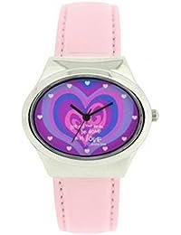 Devine Time DEV 10 - Reloj para mujeres, correa de tela color rosa