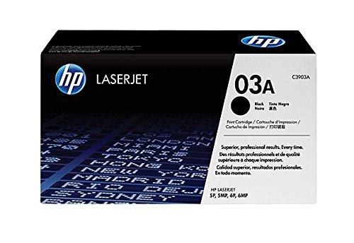 HP C3903A Laserjet 5P Druckerpatrone, mikrofeine Druckerpatrone, Ergiebigkeit 4.000 Seiten (Hp Laserjet 03a)