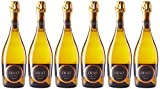 CRUSET Vin de France Vin Mousseux Blanc de Blancs Demi-Sec 750 ml - Lot de 6