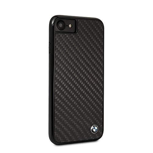 BMW iPhone 8& iPhone 7Fall-von CG Mobile-Schwarz/Carbon Hard Handy Tasche Carbon Fiber| einfach zugänglich Anschlüsse | Offizielles Lizenzprodukt, schwarz (Fiber Carbon Hard Hats)