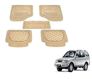 Auto Hub 6255 Beige Car Foot Mats for Tata Safari Dicor