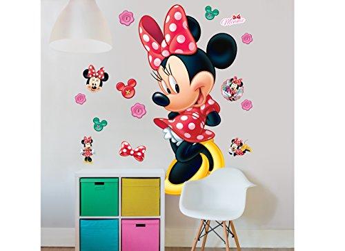 Walltastic, Adhesivos de Gran tamaño para tu habitación, Disney Minnie Mouse,, Grande