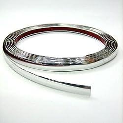 Autohobby 6mm x 5meter Zierleiste Chromleiste Universal Flexibel Selbstklebend Kunststoff Tuning Styling Chrom