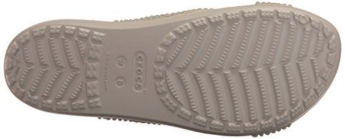 Crocs - Sloane Embellished Xstrap, Sandali infradito Donna Grigio (Platinum)