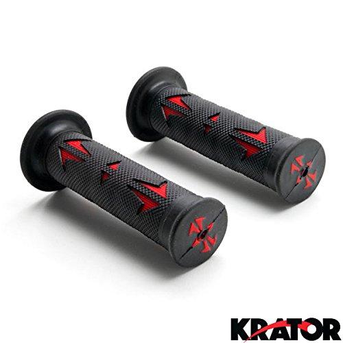 kratorr-universal-atvs-pwc-rubber-comfort-hand-grips-7-8-black-red-quad-yamaha-polaris-seadoo-waterc