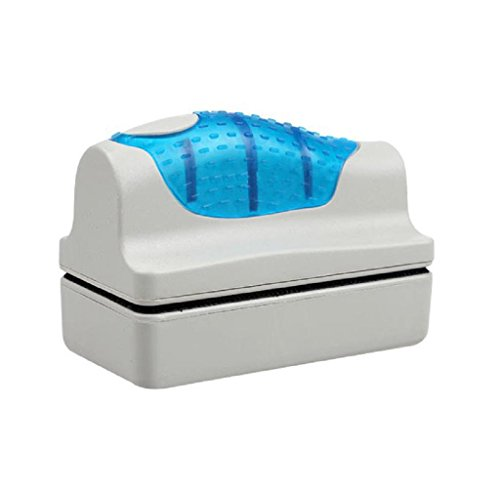 Mallom Magnetic Brush Aquarium Fish Tank Glass Algae Scraper Cleaner Floating (7 x 3.5 x 7 cm) 5