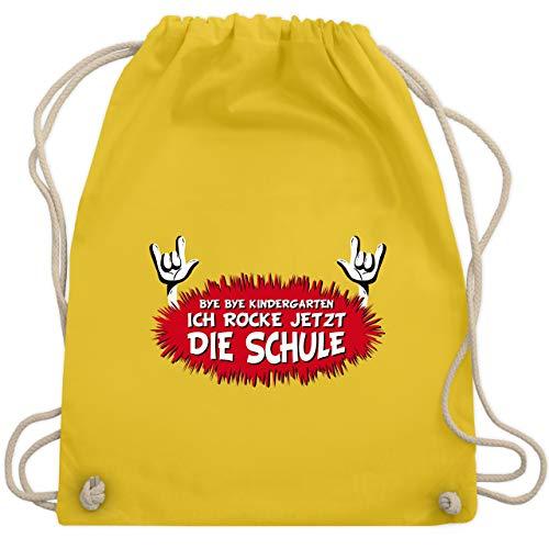 Einschulung und Schulanfang - Ich rocke jetzt die Schule - Unisize - Gelb - WM110 - Turnbeutel & Gym Bag