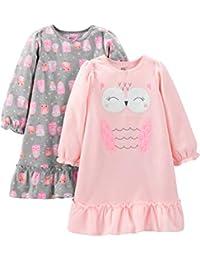 Simple Joys by Carter's 2-Pack Fleece Nightgowns Niñas, Pack de 2