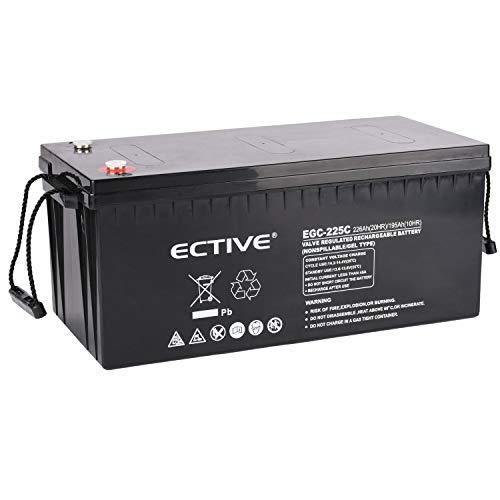 ECTIVE 12V 226Ah Gel Deep Cylce Batterie | Extrem Zyklenfeste Solar Versorgungsbatterie (VRLA) in 6 Varianten
