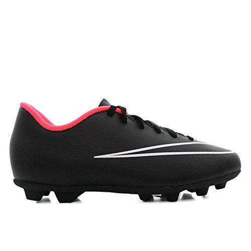 Nike Jr Mercurial Vortex II Fg-R, Scarpe da Calcio Unisex Bambini, UK Nero / Bianco (Nero / Nero-Bianco-Hyper Punch)