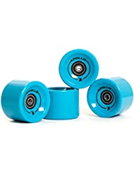 Longboard , ruedas , Wheel Set, set de ruedas | 78A - 70mm | de la marca exclusiva Apollo | Rodamiento de bolas ABEC-7 incluido | Color: solid blue