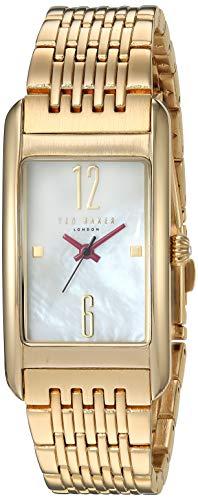 Ted Baker de la mujer de cuarzo reloj de vestido de acero inoxidable, Color GOLD-TONED (modelo: 10031189)