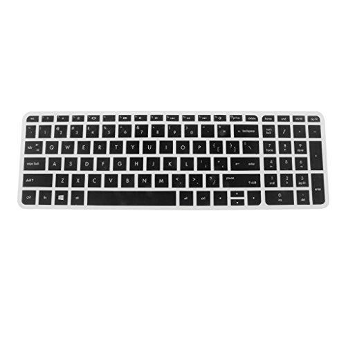 Sharplace Silikon Tastaturschutz Keyboard-Protektor wasserdicht Schutzfilm Skin Silikon Abdeckung Haut für HP Pavilion 15 Zoll - Typ2