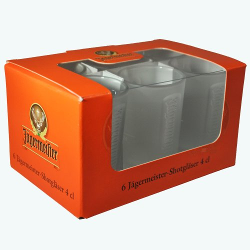 6 original Jägermeister FROZEN Club Shotgläser 0.04l