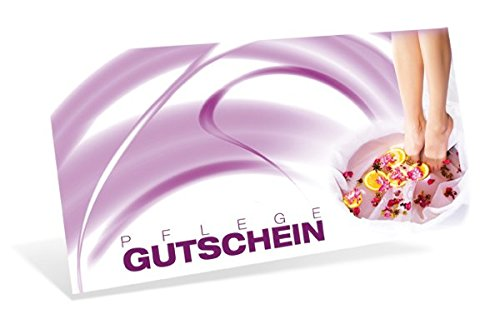 Gutscheinkarten (10 Stück) - Geschenkgutscheine für Fußpflege, Podologie, Pediküre - DIN lang Faltkarte verschließbar, blanko Vordruck zum Eintragen der Werte