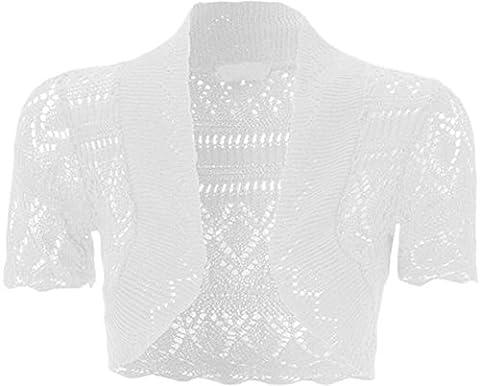 GirlzWalk ® filles Crochet à manches courtes en tricot Bolero Shrug Top