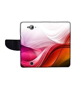 KolorEdge Printed Flip Cover For Acer Liquid Z530 Multicolor - (1478-50KeMLogo12017AcerZ530)