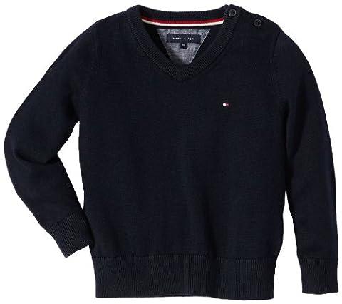 Tommy Hilfiger Jungen Pullover TOMMY VN SWEATER Long Sleeve / E557116572, Gr. 176 (16), Blau (403 MIDNIGHT