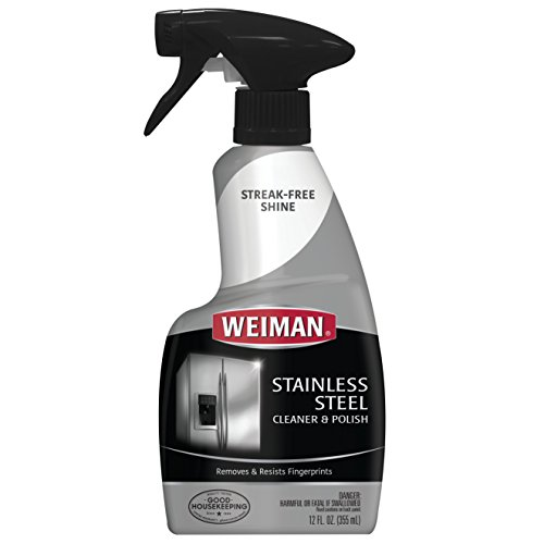 Weiman Stainless Steel Cleaner and brightener, 12-Ounce