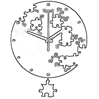 Wanduhr Stille kreative Uhr Puzzle Mode Kunst Uhr Quarz (Farbe : Gold) preisvergleich bei billige-tabletten.eu