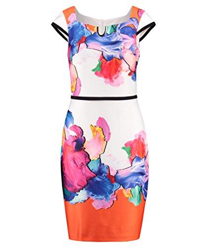 Joseph Ribkoff Women's Dress Blanc/Multi/Noir