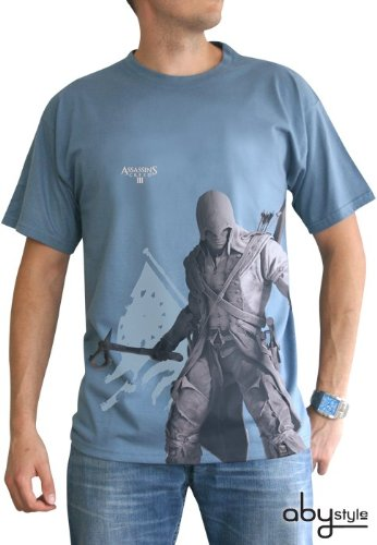 Assasins Creed 3 - Connor T-Shirt Gr. L Tee Original und Lizensiert (Anime (Connor Cosplay Kostüm)