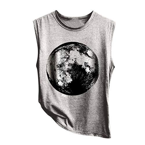 UFODB Tank Top Damen Lang,Frauen Mode Yoga Sport Print Fitness Gym Laufen Shirt Running Tanktop Vest Unterhemd Ärmellos Sommer Shirts Muskelshirt Oberteile Longshirt Cord-flare Jeans