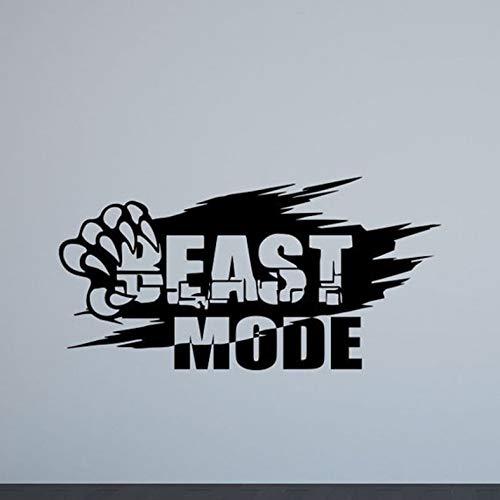 andtattoo Gym Poster Sport Inspirierend Zitat Inspirierend Vinyl Aufkleber Bodybuilding Fitness Dekoration 82x42cm ()
