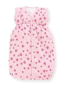Pinolino 256350-7 - Puppenschlafsack Herzchen rosa