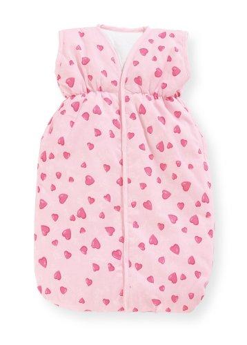 Preisvergleich Produktbild Pinolino 256350-7 - Puppenschlafsack Herzchen rosa