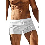 Jaciu Men's Swim Trunks Quick Dry Sports Shorts Beach Swimwear with Back Zipper Pocket