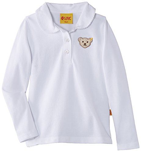 Steiff Baby - Mädchen Poloshirt 0006893 Polo Shirt 1/1 Sleeves, Bright White, 110