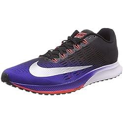 Nike Air Zoom Elite 9, tênis de corrida para homens, (preto / vermelho / azul / prata 405), 44 EU