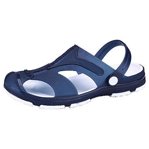 Sandália Praia Livre Estilo Moda Homens Chinelos Respirável Eastlion Ao De Lazer Ar Azul Esporte Oco 1 WxABIpnO