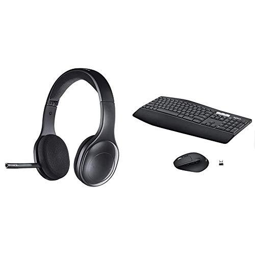 Logitech H800 Headset schnurlos schwarz & MK850 Performance Kabellose Tastatur und Maus Combo (USB, Bluetooth) QWERTZ Deutsches layout