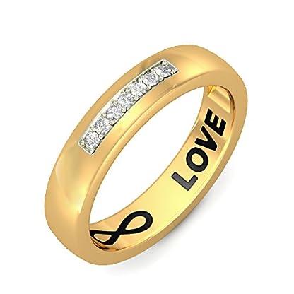BlueStone 18k (750) Yellow Gold and Diamond Moses Ring