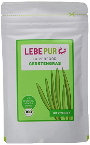 Lebepur Gerstengras Pulver Bio, 2er Pack (2 x 125 g)