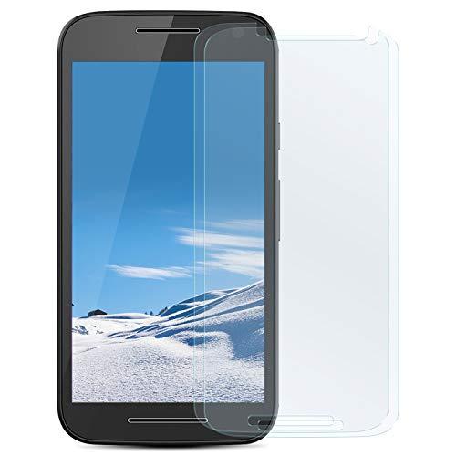 Zhinkarts 2X Bildschirmschutz Panzer Folie für Motorola Moto G 3. Generation Bildschirmfolie Panzerglas Echt Glas Schutzglas 9H