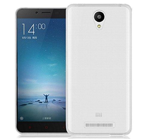 TBOC® Custodia Gel TPU Trasparente per Xiaomi Redmi Note 2 - Hongmi Note 2 in Silicone Ultra Sottile e Flessibile
