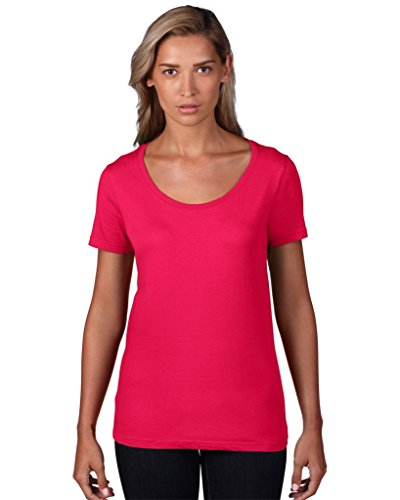 anvil Damen Lightweight Scoop Neck Tee tailliert / 391 Lemon Zest