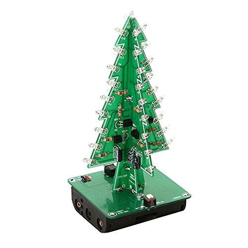 tiptiper 7Farben 3D Weihnachtsbaum LED Flash Kit dreidimensionalen bunt RGB LED Geschenk