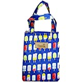 Shopper52 Canvas Protable Thermal Insulated Lunch Bag with Handle for Travell & Office