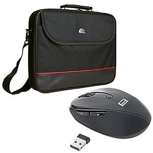 Pedea Trendline Notebooktasche bis 46,7 cm (18,4 Zoll) mit schnurlose Maus grau